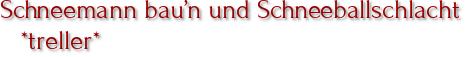 Schneemann bau'n und Schneeballschlacht *treller*